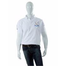 Camisa Polo Style Modelo Básico Branco Brasão