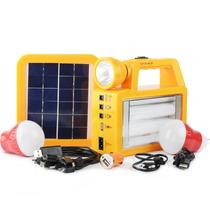 Kit Painel Solar + Lampadas + Carregador De Emergencia Pesca