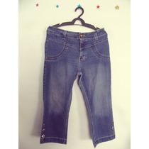 Calca Feminina Jeans Capri Lavagem Diferenciada Cód. 65