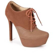 Sapato Oxford Feminino Crysalis - Caramelo