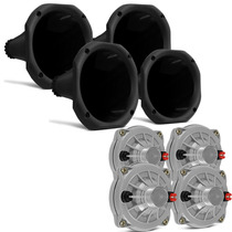 Kit 4 Drivers Selenium Jbl D250x 100w + 4 Cornetas Curtas