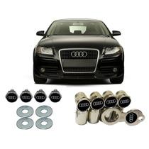 Bico Cromado Antifurto + Parafusos P/ Placa Carros Audi