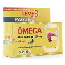 Omega 3 1000 Mg Okasa Saedra Leve 90 Pague 60 Capsulas