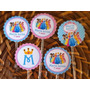 100 Toppers Com Palitinho Personalizados Cupcakes, Docinhos