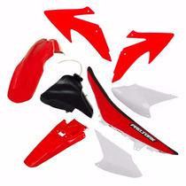 Kit Plasticos Crf230 Conjunto Vermelho + Tanque + Banco