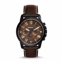Relógio Fossil Grant Cronografo Fs5088 Couro Marrom Chronogr