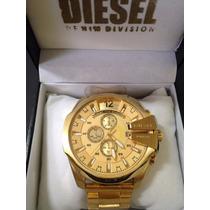 Relógio Diesel Dourado Banhado Ouro18k Com Garantia