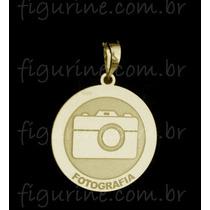 Pingente Fotografia / Profissão Em Prata 925 Banhado A Ouro