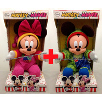 Combo Bonecos Baby Disney Original : Mickey + Minnie