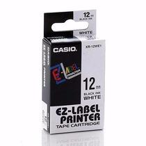 Fita Para Etiquetadora Casio Xr-12we1 Original - 12mm. C/1.