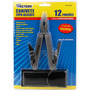 Alicate Multifuncional Aço Inox Canivete 12 Funções C/bainha