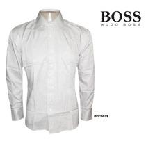 Camisa Social Hugo Boss Branca Frisada - Frete Grátis
