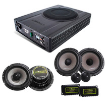 Kit Pro Audiophonic Caixa Amplif. Aps 2.1 + Ks6.2 + Cs650v2