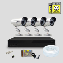 Kit Segurança Dvr Stand Alone 8 Canais E 4 Câmera Infra Sony