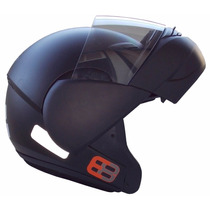 Capacete Ebf E8 Robocop Articulado Preto Fosco Frete Grátis