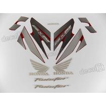 Kit Adesivos Cbx Twister 250 2007 Vermelha - Resinado Decalx