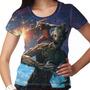 Camiseta Guardiões Da Galáxia Groot Feminina