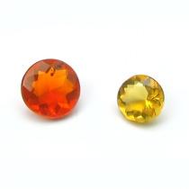 Opalas De Fogo Naturais 1.0 Quilates Redondas Multifacetada