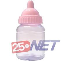 500 Mini Mamadeira 50ml Lembrancinhas C/ Bico Rosa Bebê