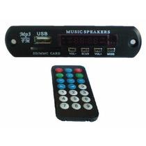 Modulo Leitor De Usb Mp3 / Fm / Aux / Controle Remoto