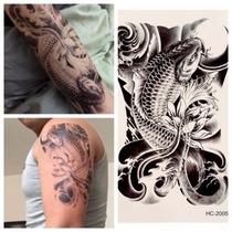 Tatoo Carpa Temporaria 3d (tatuagem Muito Real) Frete R$10,0