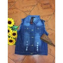 Colete De Jeans Feminino Moda