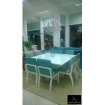 Sala De Jantar Com 8 Lugares Com Cadeira Com Detalhe Com...