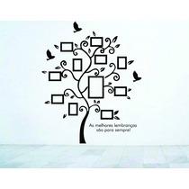 Adesivo De Parede Árvore Galho Porta Retrato Foto Pássaros