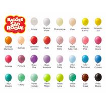 R$ 5,99 Balão São Roque 100 Pacotes/ Bexiga N.7 Frete Grátis