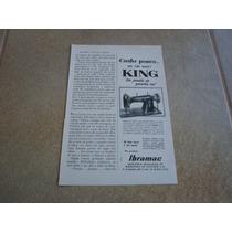 Propaganda Antiga Maquinas De Costura King 1955 Singer
