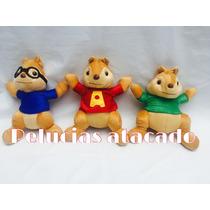 Pelúcia Alvin E Os Esquilos Kit Com 3