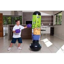 Joao Bobo Saco Pancada Infantil Inflável + Luvas Boxe C/ Nf