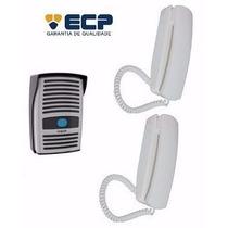 Porteiro Eletrônico Interfone Ecp + Extensão Abre Fechadura