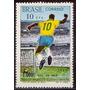 Selo Brasil,milésimo Gol Pelé 1969,novo.ver Descrição.