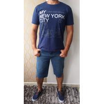 Bermuda Jeans Masculina Com E Sem Elastano.