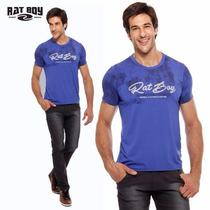 Camiseta Masculina Rat Boy - Azul