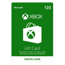 Gift Cartão Xbox Live Americana $20 Dólares Loja Oficial