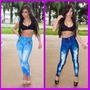 Calça Legging Que Imita Jeans. Fitness Academia Frete Grátis