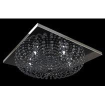 Lustre Plafon Cristal Quadrado Translúcido 50x50 Cm New