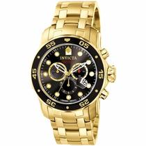 Relógio Masculino Invicta Pro Diver 0072 Dourado Original