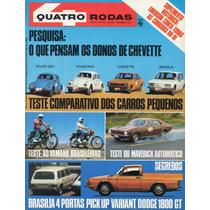 Quatro Rodas Nº172 Novembro 1974 Vw Fusca Maverick Brasília