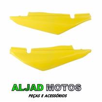 Par Tampa Lateral Mod Original P/ Bros 150 Ano 2008 Amarelo