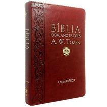 Bíblia Com Anotações A. W. Tozer Luxo Cpad Frete Grátis