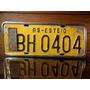 Antiga Placa Automotiva Rs - Bh 0404