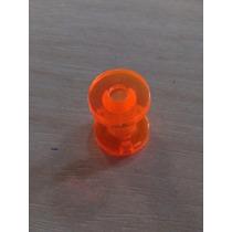 Piercing Alargador Acrílico Tamanho 4mm Laranja Transparente