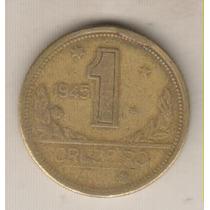 B136 - 1 Um Real 1945 Excesso Metal Rara R$ 10,00