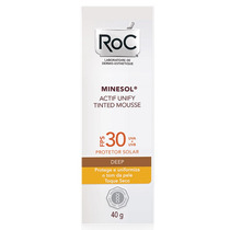 Roc Minesol Actif Unify Tinted Mousse Deep Fps 30 40 G