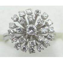 Feliz Jóias - Anel Chuveiro De Diamantes Em Ouro Branco