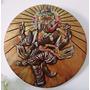 Quadro Placa Gesso - Ganesha Dançarino 36cm Com Cristais