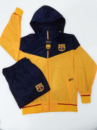 Agasalho Do Barcelona Amarelo Azul Conjunto Blusa E Calça - R  184 ... f7b2d75ce2c1a